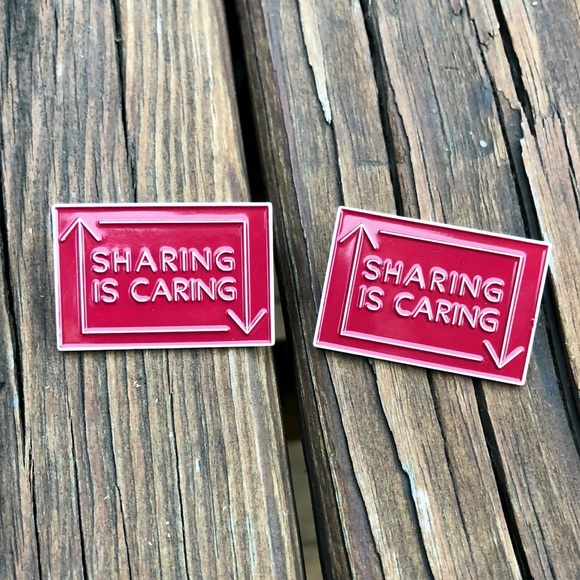 Sharing is Caring Lapel Pins • Bundle of 2 Boutique